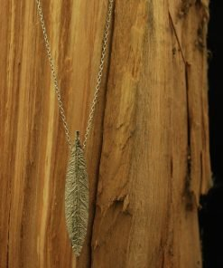 feather silber kette