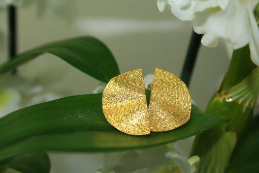 moon ohrringe gold