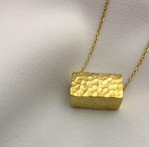 oblong kette gold