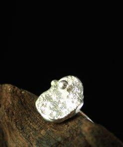 ring silber strukturiert