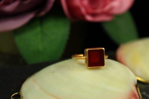 ring vergoldet edelstein