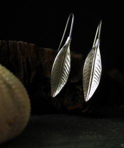 silber ohrringe blattförmig