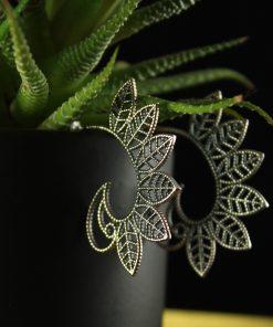 silber ohrringe flower