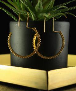 silber ohrringe vergoldet oriental gold