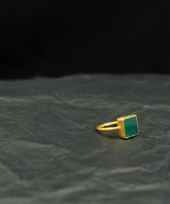 silber ring grün