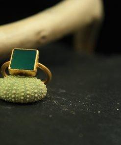 silber ring jade