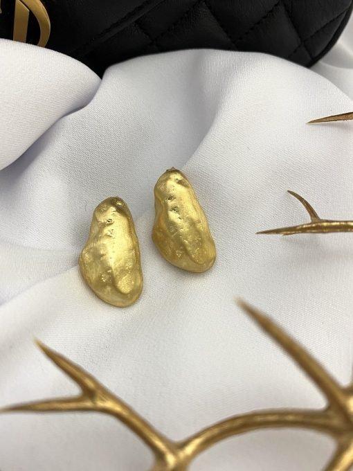 stone ohrringe gold